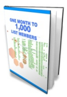 Product picture OneMonth1000members - make more money from your website